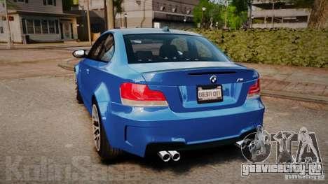 BMW 1M 2011 Carbon для GTA 4 вид сзади слева