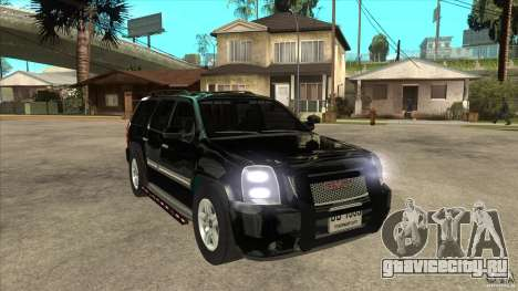 GMC Yukon Unmarked FBI для GTA San Andreas вид сзади
