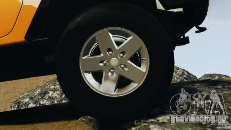 Jeep Wrangler Rubicon 2012 для GTA 4 вид сверху