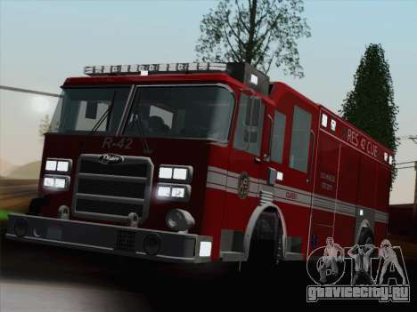 Pierce Contender LAFD Rescue 42 для GTA San Andreas двигатель
