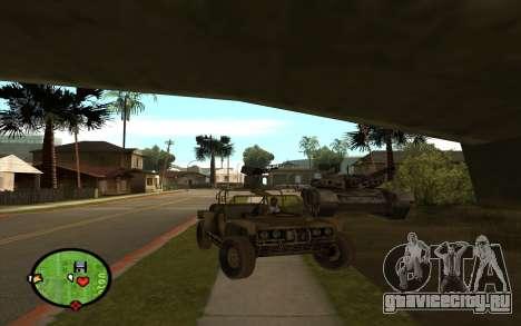 FAV Buggy из Battlefield 2 для GTA San Andreas вид сзади слева