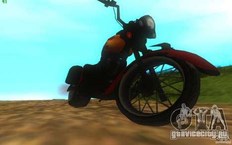 Motorcycle from Mercenaries 2 для GTA San Andreas вид справа