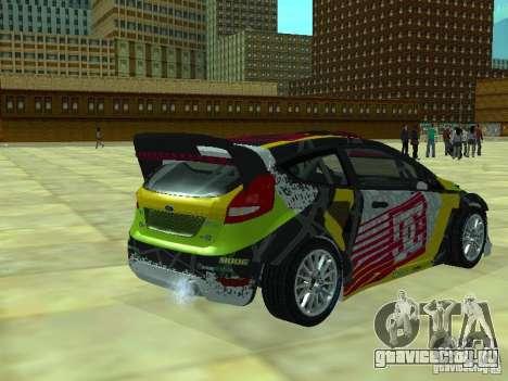 Ford Fiesta H.F.H.V. Ken Block Gymkhana 5 для GTA San Andreas вид слева