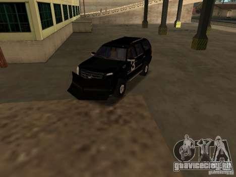 Cadillac Escalade Таллахасси для GTA San Andreas вид изнутри