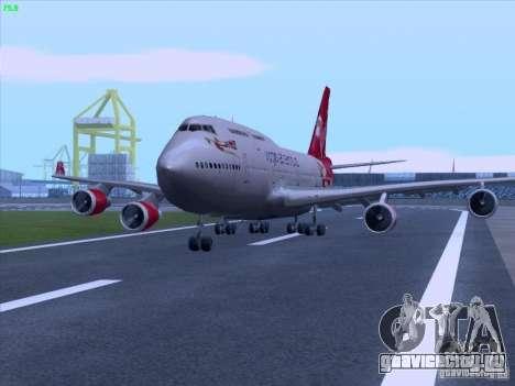 Boeing 747-4Q8 Lady Penelope для GTA San Andreas вид справа
