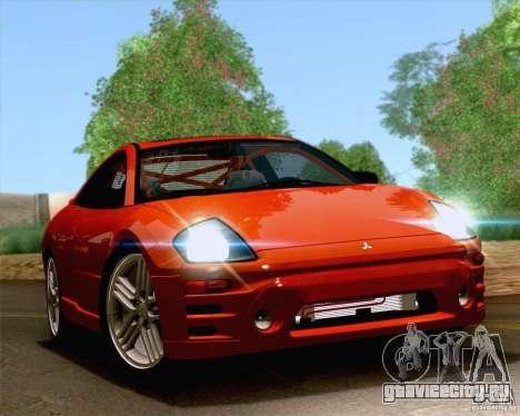 Mitsubishi Eclipse GTS 2003 для GTA San Andreas вид изнутри