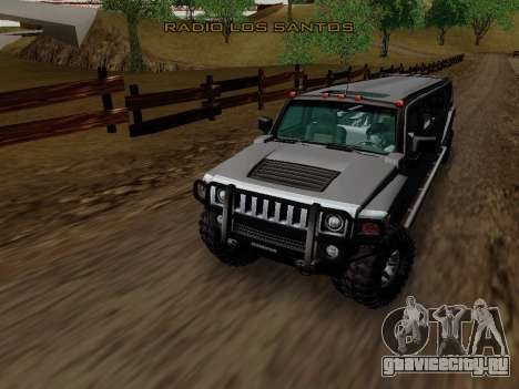 Hummer H3 Limousine для GTA San Andreas вид изнутри