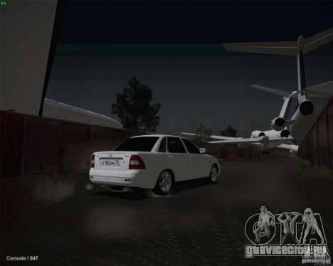Lada 2170 для GTA San Andreas вид снизу