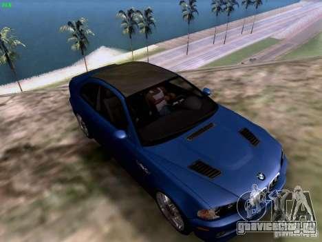 BMW M3 Tunable для GTA San Andreas вид сзади слева