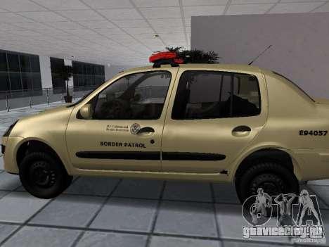 Renault Clio Symbol Police для GTA San Andreas вид слева