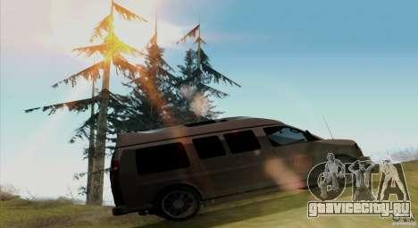 GMC Savana AWD для GTA San Andreas вид сзади