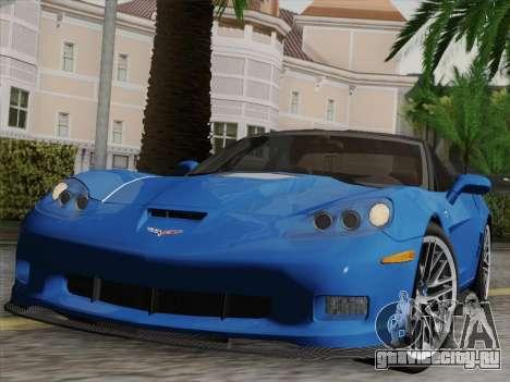 Chevrolet Corvette ZR1 для GTA San Andreas двигатель
