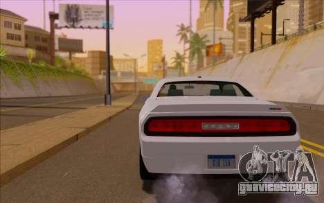 Dodge Challenger для GTA San Andreas вид слева