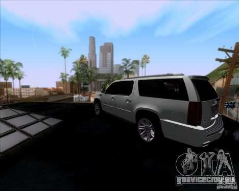 Cadillac Escalade ESV Platinum 2013 для GTA San Andreas вид сзади слева