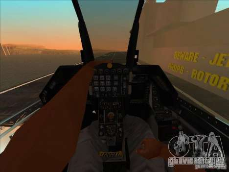 F-16C Fighting Falcon для GTA San Andreas вид сзади
