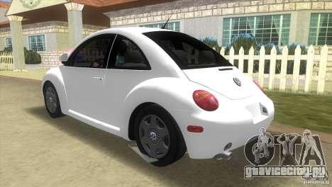 VW New Beetle для GTA Vice City вид сзади слева