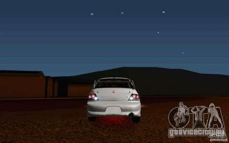 Mitsubishi Lancer Evo VIII GSR для GTA San Andreas вид сзади