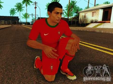 Криштиану Роналду v4 для GTA San Andreas пятый скриншот