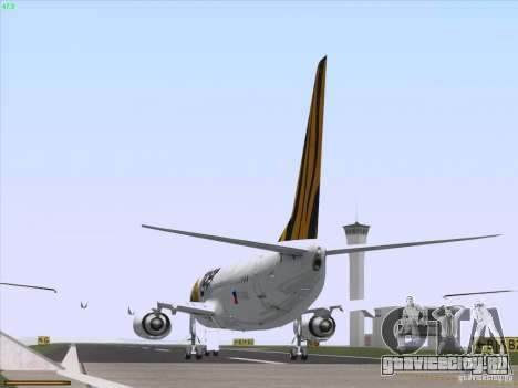 Boeing 737-800 Tiger Airways для GTA San Andreas вид сзади