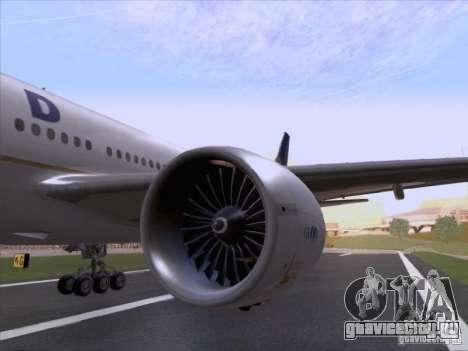 Boeing 777-200 United Airlines для GTA San Andreas вид сзади
