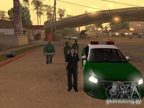 Chevrolet Cruze Carabineros Police для GTA San Andreas вид сверху