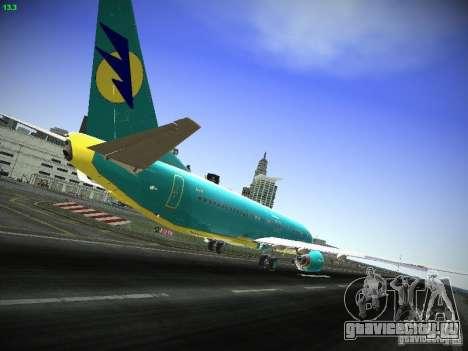 Boeing 737-84R AeroSvit Ukrainian Airlines для GTA San Andreas вид справа