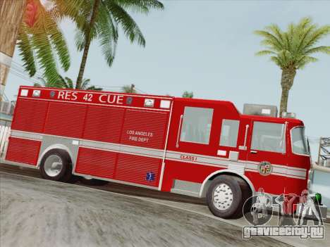 Pierce Contender LAFD Rescue 42 для GTA San Andreas колёса