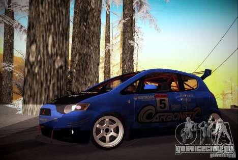 Mitsubishi Colt Rallyart Carbon 2010 для GTA San Andreas