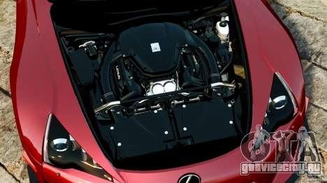 Lexus LFA 2012 Nurburgring Edition для GTA 4 вид изнутри