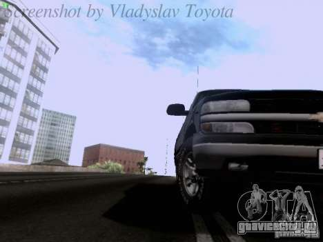 Chevrolet Tahoe 2003 SWAT для GTA San Andreas вид сзади