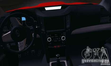 Subaru Legacy B4 2010 для GTA San Andreas вид изнутри