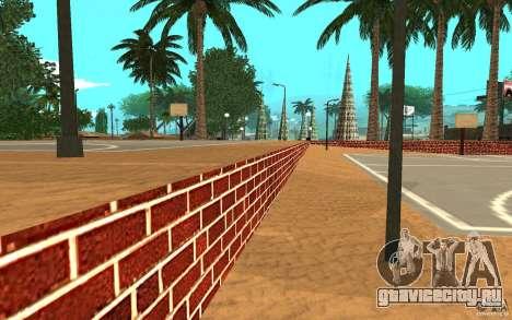 Новые текстуры баскетбольной площадки для GTA San Andreas четвёртый скриншот