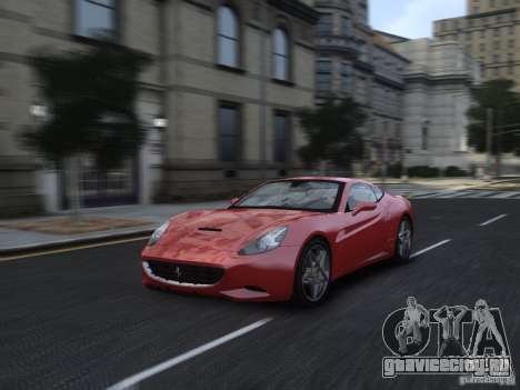 Ferrari California 2009 для GTA 4 вид сбоку