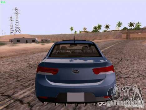 Kia Cerato Coupe 2011 для GTA San Andreas вид справа