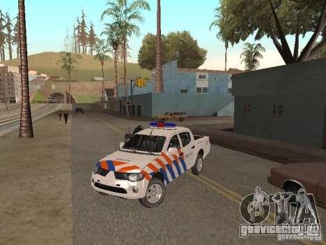 Mitsubishi L200 Police для GTA San Andreas