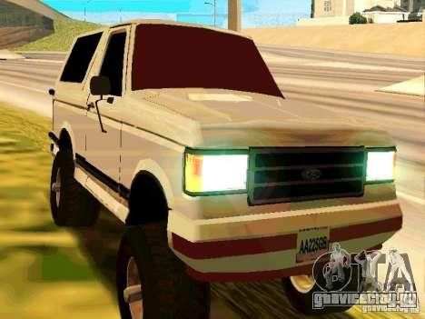 Ford Bronco 1990 для GTA San Andreas вид слева