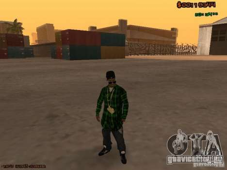 Grove Street Family для GTA San Andreas второй скриншот