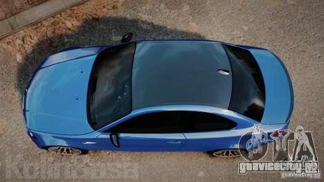 BMW 1M 2011 Carbon для GTA 4 вид справа