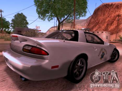 Chevrolet Camaro 2002 California Highway Patrol для GTA San Andreas вид сзади слева