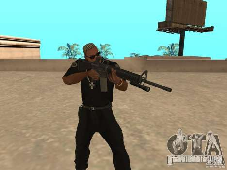 M4A1 from Left 4 Dead 2 для GTA San Andreas третий скриншот