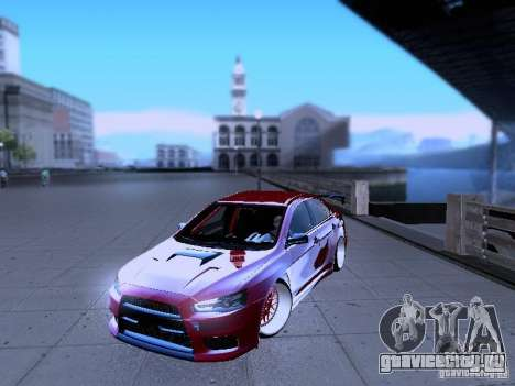 Mitsubishi Lancer Evolution X v2 Make Stance для GTA San Andreas