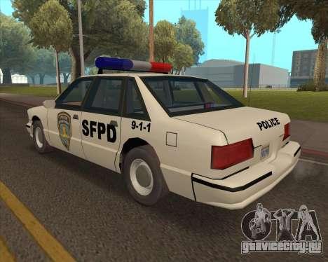 Updated SFPD для GTA San Andreas вид слева