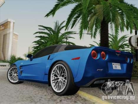 Chevrolet Corvette ZR1 для GTA San Andreas вид слева