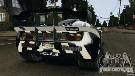 McLaren F1 ELITE Police для GTA 4 вид сзади слева