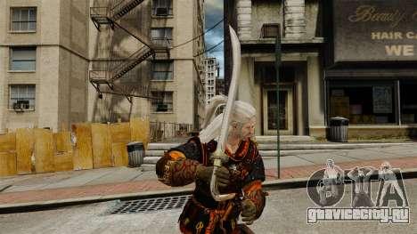 Меч Геральта v2 для GTA 4 второй скриншот