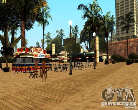Modern beach in Los-Santos для GTA San Andreas