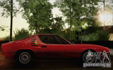 Alfa Romeo Montreal 1970 для GTA San Andreas вид сзади слева