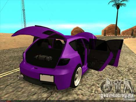 Mazda Speed 3 Stance для GTA San Andreas вид изнутри