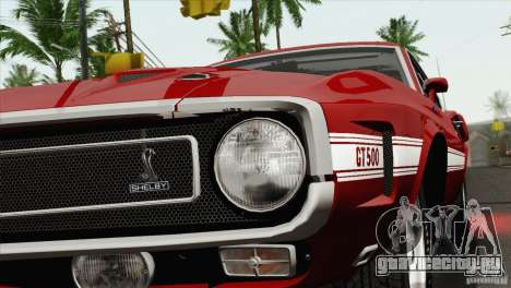 Shelby GT500 428 Cobra Jet 1969 для GTA San Andreas вид сбоку