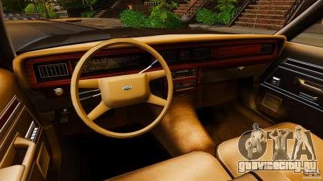 Ford LTD Crown Victoria 1987 для GTA 4 вид сзади